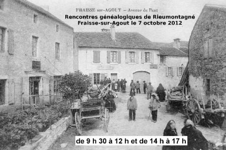 7 octobre 2012 – Généalogie à Fraïsse-sur-Agout