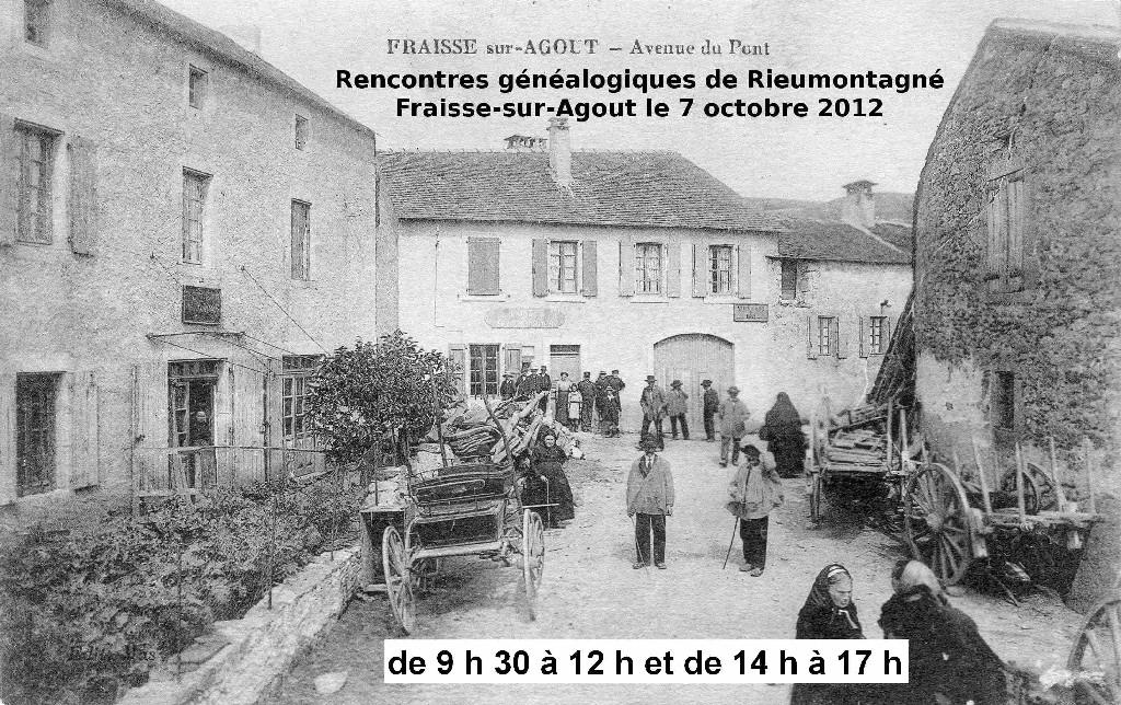 Rencontres généalogiques à Fraîsse le 7 octobre 2012