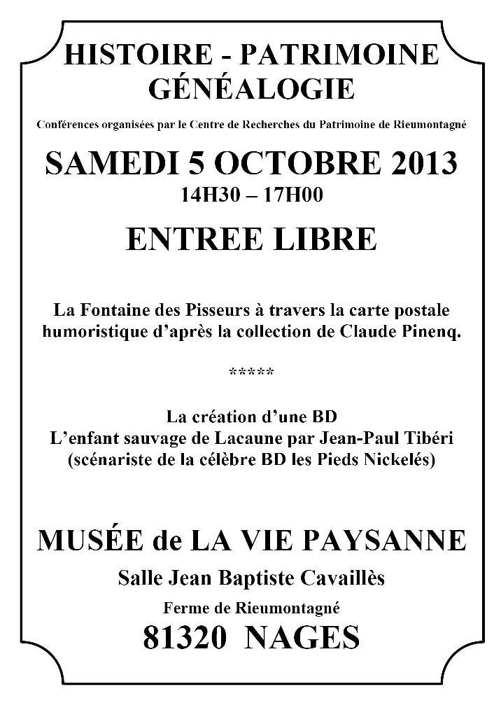 5 octobre 2013 - Après-midi du patrimoinepatrimoine