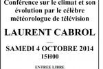 Samedi 4 octobre 2014 – Après-midi du patrimoine sur les évênements climatiques