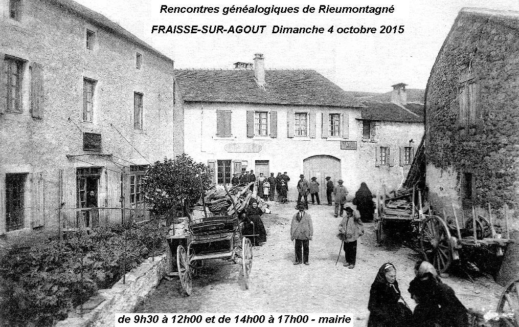 Rencontres généalogiques à Fraisse le 4 octobre 2015