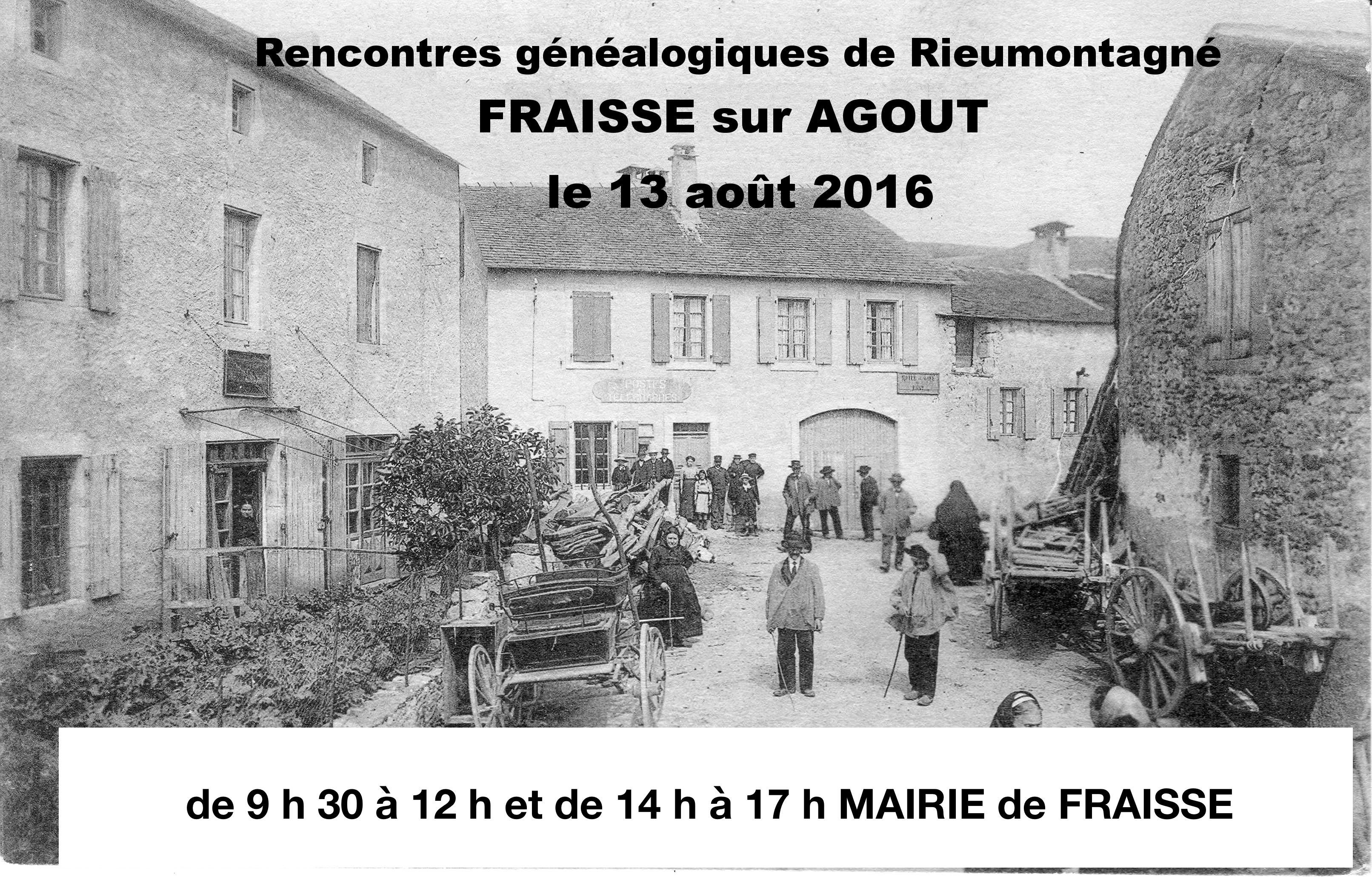 Samedi 13 août 2016 – Généalogie et Assemblée générale à Fraïsse-sur-Agoût