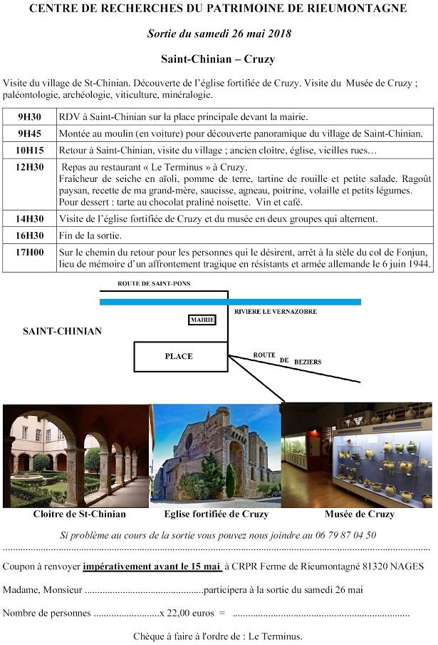 saint-chinian et Cruzy - 26 mai 2018