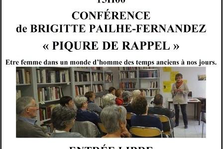 Samedi 22 septembre 2018 – Après-midi du patrimoine / conférence Piqûre de rappel