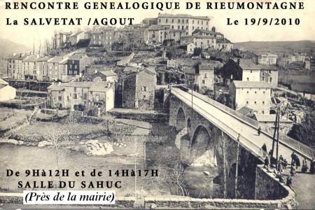 19 septembre 2010 – Rencontre généalogique de La Salvetat