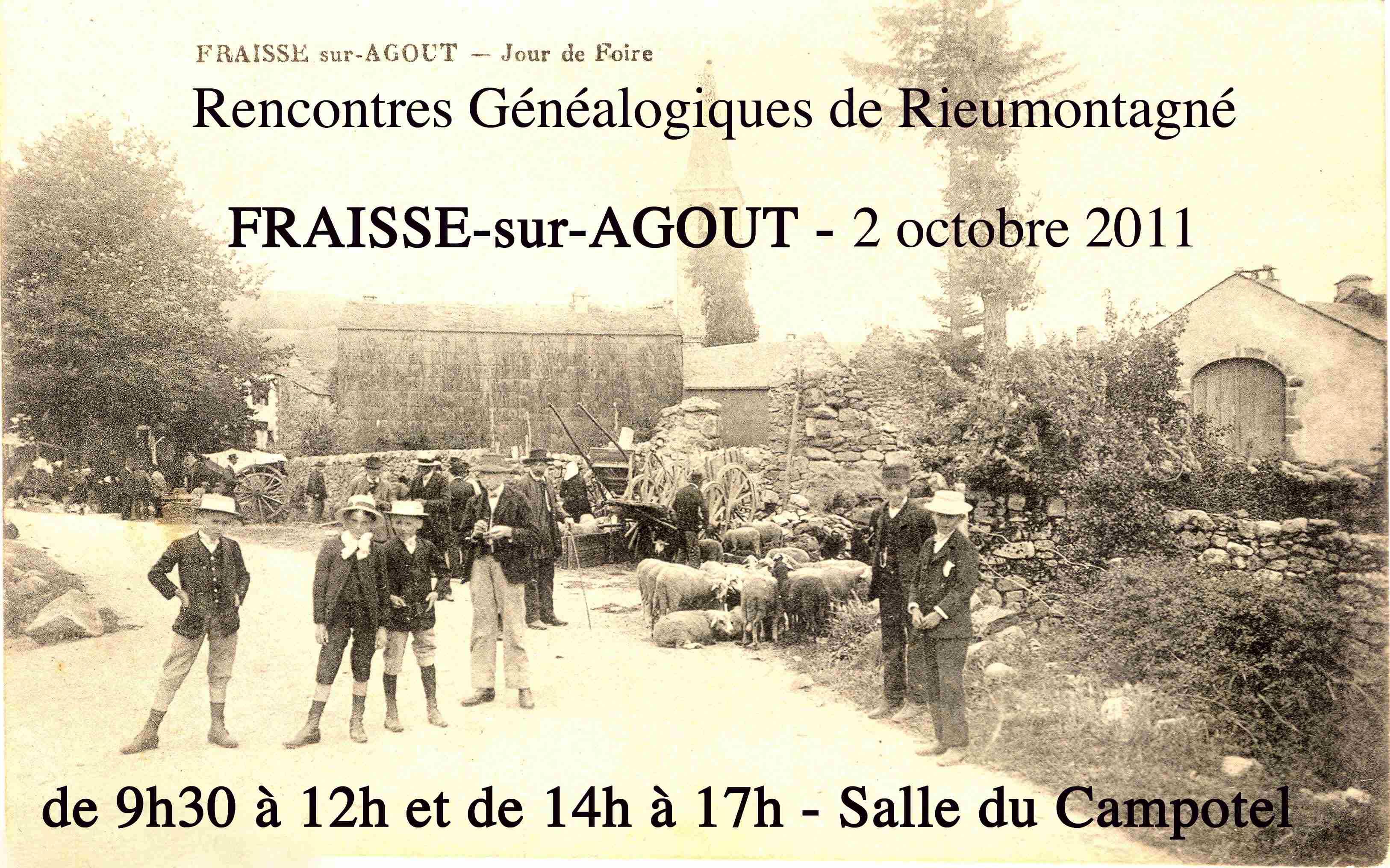 2 octobre 2011 – Généalogie à Fraïsse-sur-Agoût