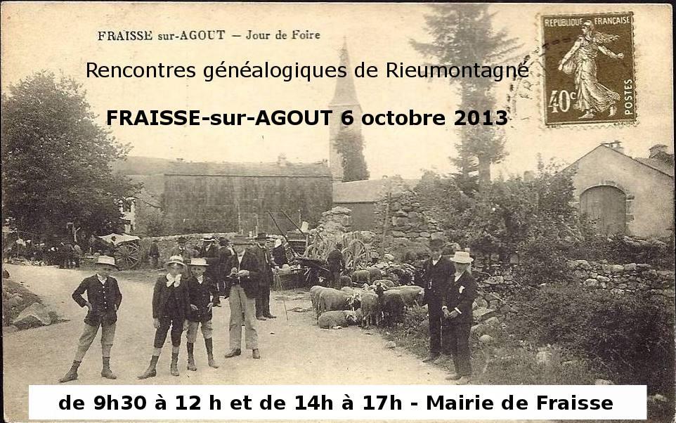 Rencontre généalogique de Fraisse-sur-Agout